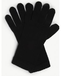 Johnstons - Short Cuff Cashmere Gloves - Lyst