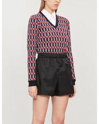 Prada High-rise Nylon Shorts - Black