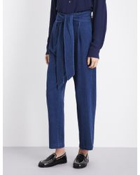 MASSCOB - Belted Tapered High-rise Jeans - Lyst