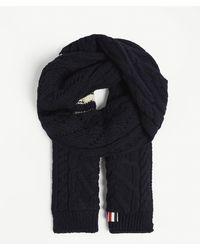 Thom Browne - Aran Cable Knit Wool-blend Scarf - Lyst