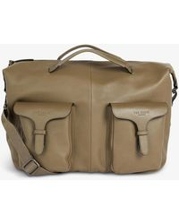 Ted Baker Cillian Logo-debossed Leather Satchell - Brown