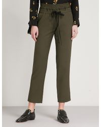 The Kooples - Slim-fit Straight Woven-twill Trousers - Lyst