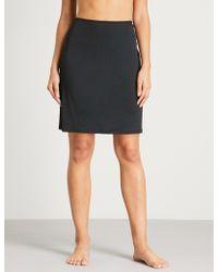 Hanro Deluxe Satin Slip Skirt - Black