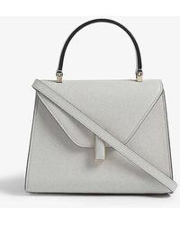 Valextra Iside Mini Leather Cross-body Bag - Grey