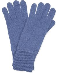 CASH CA - Ladies Grey Ribbed Luxurious Cashmere Soft Milled Gloves - Lyst