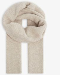 Vince Branded Wool-blend Scarf - Natural