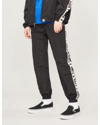 A Bathing Ape - Logo-embroidered Shell jogging Bottoms - Lyst
