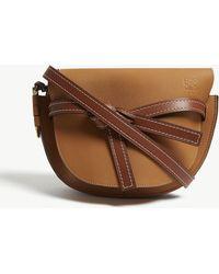 Loewe Gate Leather Saddle Bag - Brown