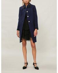 Miu Miu - Point-collar Wool Coat - Lyst