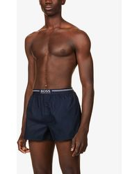 BOSS by Hugo Boss - Pack Of Two Cotton-jersey Boxers - Lyst