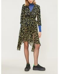 Mo&co. - Asymmetric Floral-print Jersey Dress - Lyst