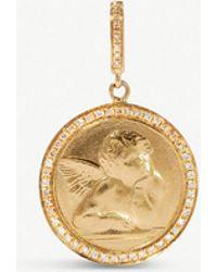 Annoushka Mythology 18ct Gold And Diamond Cherub Charm