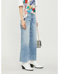Sandro Maya Slim-fit Wide-leg Jeans - Blue
