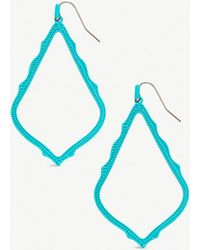 Kendra Scott - Sophee Rhodium-plated Earrings - Lyst