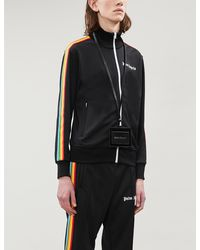 Palm Angels - Rainbow-trim Stretch-jersey Jacket - Lyst