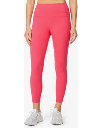 Lorna Jane Stomach Support 7/8 High-rise Stretch-woven leggings - Pink