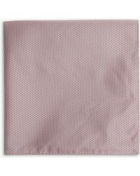 BOSS - Micro Square Silk Pocket Square - Lyst