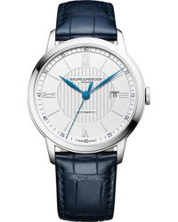 Baume & Mercier M0a10333 Classima Stainless Steel And Crocodile Leather Watch - Metallic