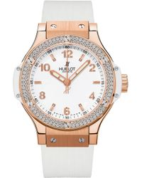 Hublot Big Bang 18ct Rose-gold And Diamond Watch - Metallic