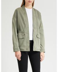 James Perse - Faded-wash Stretch-cotton Jacket - Lyst