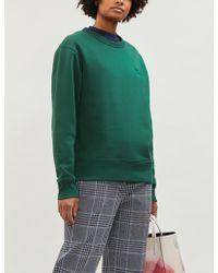 Acne Studios Fairview Branded Cotton-jersey Sweatshirt - Green