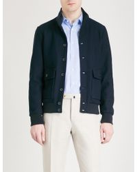 Slowear - Textured Cotton Bomber Jacket - Lyst