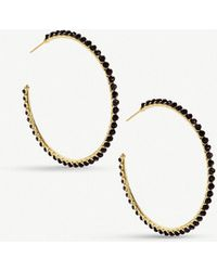 Kendra Scott - Birdie 14ct Gold-plated Brass And Tinted Glass Hoop Earrings - Lyst