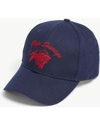 The Kooples - Navy Blue Cap With Red Embroidered Tiger Head - Lyst