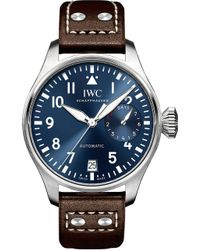 Iwc - Iw500916 Pilot Leather And Stainless Steel Watch - Lyst
