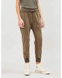 James Perse - Cropped Stretch-cotton jogging Bottoms - Lyst