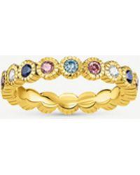 Thomas Sabo Kingdom Of Dreams 18ct Yellow Gold Plated Silver Royalty Eternity Ring