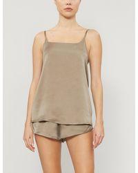 Asceno Venice Silk-satin Pyjama Shorts - Multicolour
