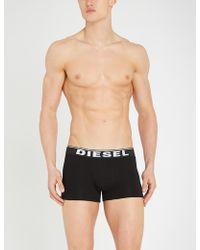 DIESEL - Logo-waist Slim-fit Pack-of-three Trunks - Lyst