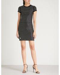 Philipp Plein - Anyday Embellished Cotton-jersey Mini Dress - Lyst