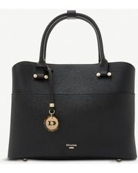Dune 'daring' Logo Charm Shopper Bag - Black