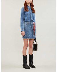 Maje Faded Denim Dress - Blue
