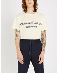 17b292c2e03 Band of Outsiders. Outsider T-shirt. £70. Farfetch · Gucci - Chateau Marmont  Hollywood Cotton-jersey T-shirt - Lyst