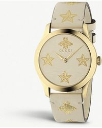 f0739063c0c Lyst - Gucci Women s Swiss G-timeless Diamond Accent Two-tone Pvd ...