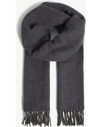 Richard James - Zig-zag Wool And Cashmere Scarf - Lyst