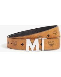 MCM Claus M Visetos And Leather Reversible Belt - Multicolour