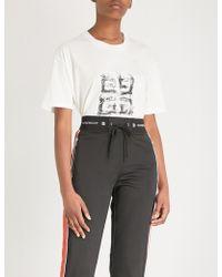 Givenchy - 4g Logo-print Cotton-jersey T-shirt - Lyst