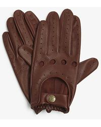 Dents Leather Driving Gloves - Black