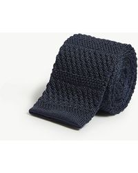 Richard James - Squared-off Knitted Silk Tie - Lyst