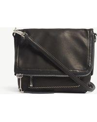 Rick Owens - Foldover Leather Messenger Bag - Lyst