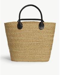 Muuñ Bony Straw Bag - Black