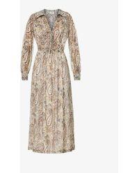Zadig & Voltaire Reeva Paisley-print Silk-blend Maxi Dress - Multicolour