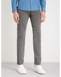 AG Jeans - Tellis Slim-fit Tapered Stretch-cotton Jeans - Lyst
