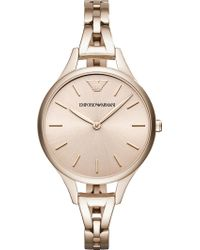 Emporio Armani - Ar11055 Stainless Steel Gold-plated Quartz Watch - Lyst