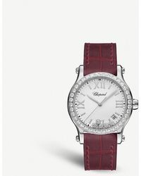 Chopard Happy Sport Automatic Stainless Steel And Diamond Watch - Red
