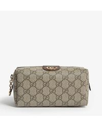 Gucci Ophidia GG Supreme Coated Canvas Cosmetics Case - Natural